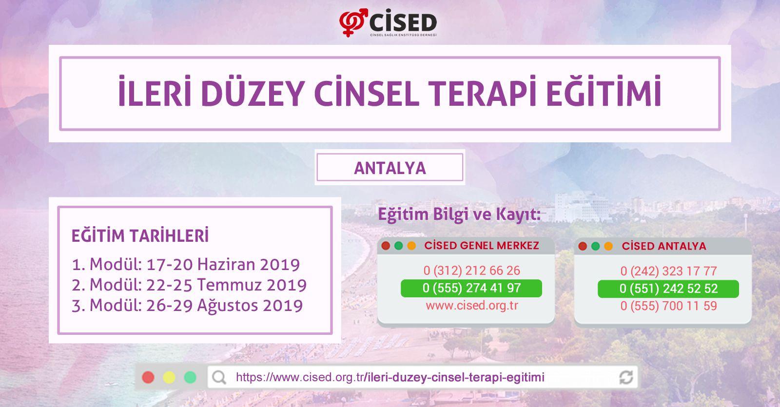 İleri Düzey Cinsel Terapi Eğitimi - ANTALYA