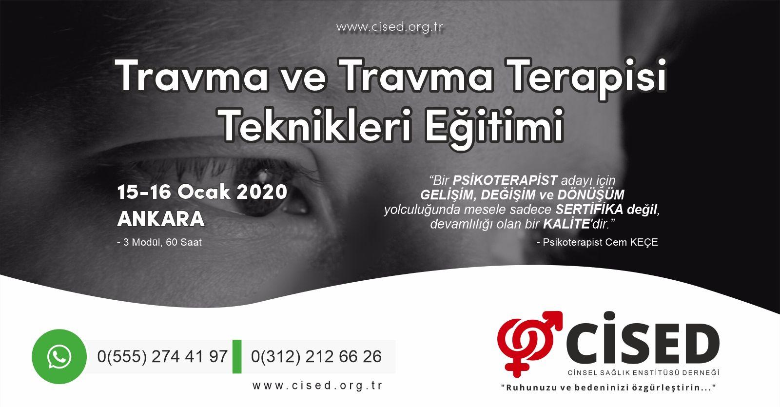 Travma ve Travma Terapisi Teknikleri Eğitimi - Ankara