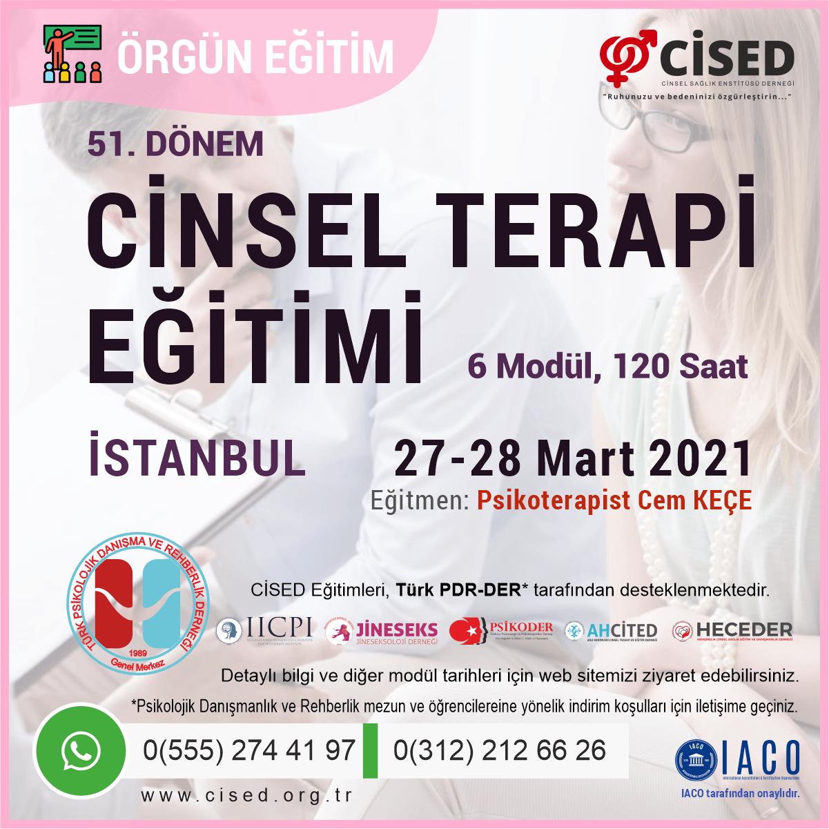 Cinsel Terapi Eğitimi - İSTANBUL