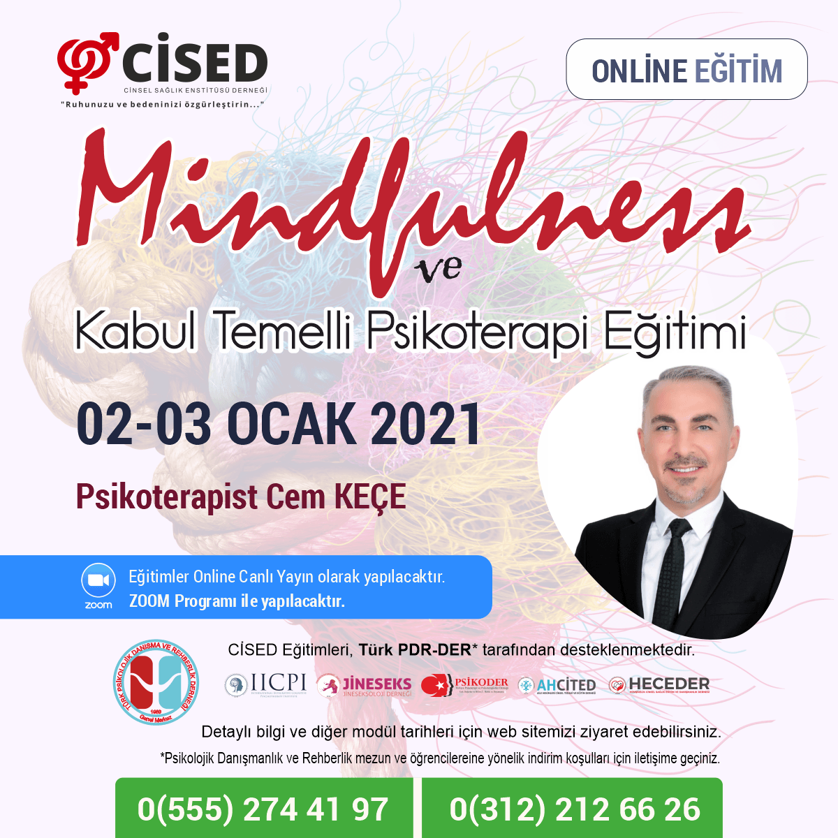 Mindfulness (Bilinçli Farkındalık) ve Kabul Temelli Psikoterapi Eğitimi