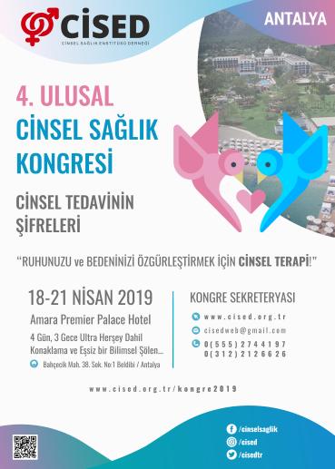 CİSED 4. Ulusal Cinsel Sa�lık Kongresi Afi�i