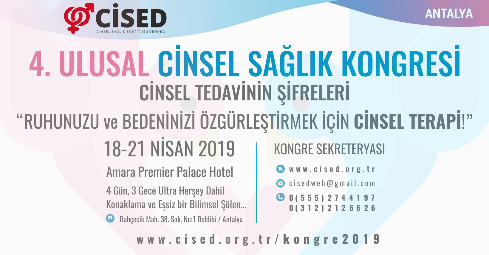 CİSED 4. Ulusal Cinsel Sağlık Kongresi