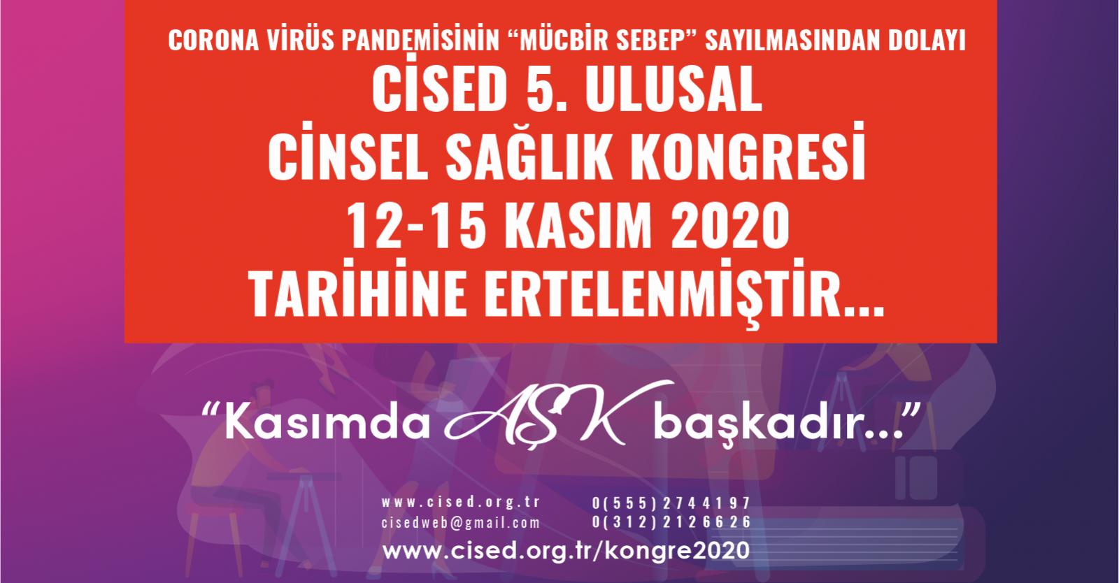 CİSED 5. Ulusal Cinsel Sağlık Kongresi - Antalya